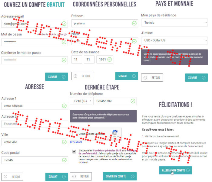 inscription création verification compte skrill tunisie