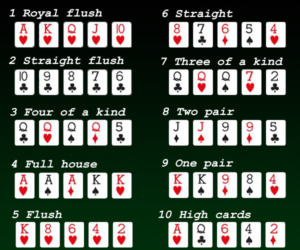 combinaison de carte poker texas hold'em