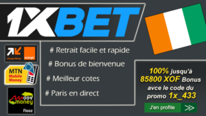 1xbet cote d'ivoire inscription bonus