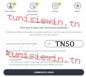netbet inscription code bonus tunisie