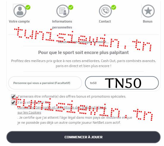 netbet inscription code bonus tunisie
