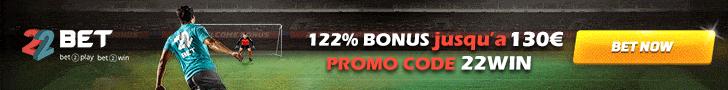 22bet bonus tunisie